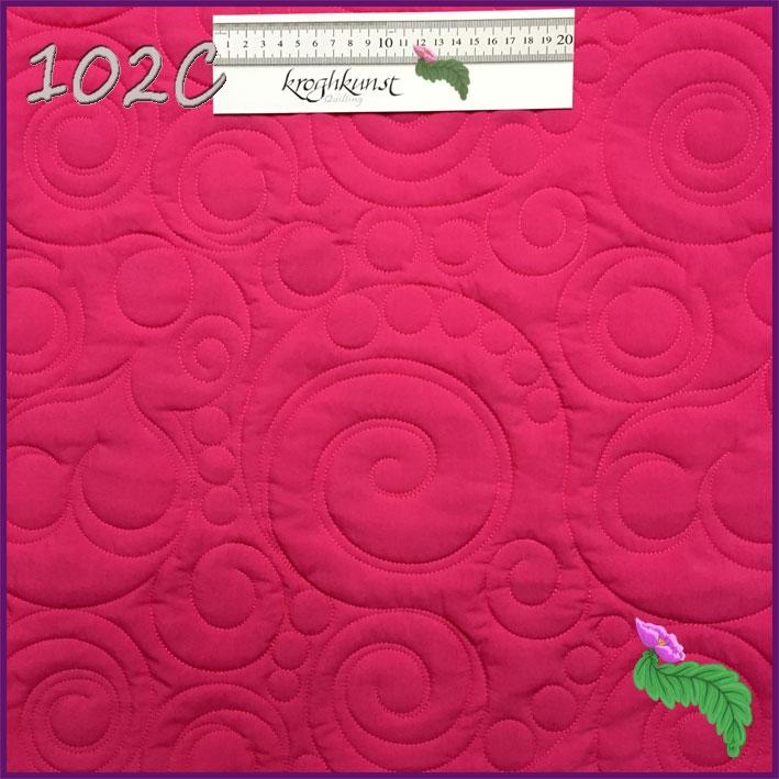 102 C - Cirkler og hvirvler i skøn forening. Motivet kan ikke blive større