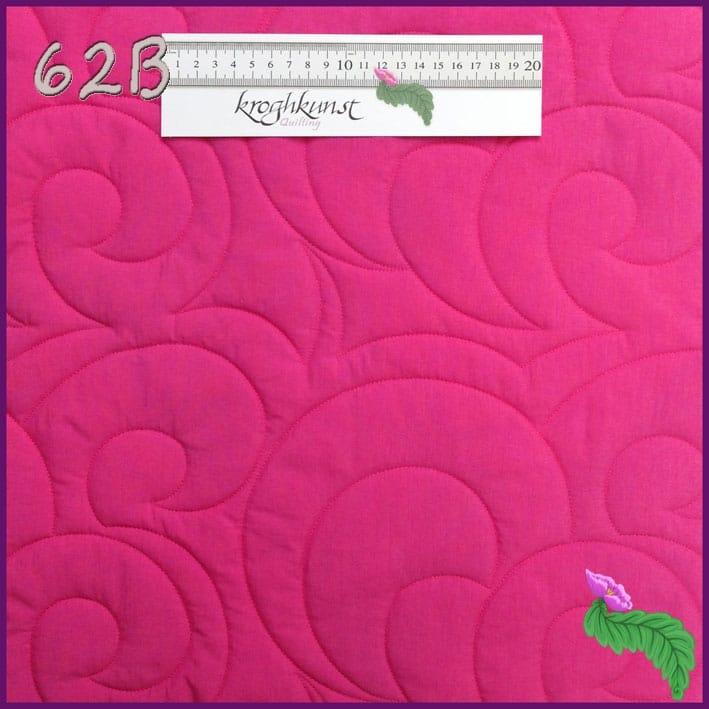 62 B - Spændende moderne motiv med bløde kurver.Motivet er magen til mønster 14 men større og mønster 80 men mindre